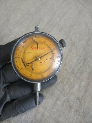 Vintage Starrett Dial Indicator No. 25-341 Jeweled .001 1 Inch Range
