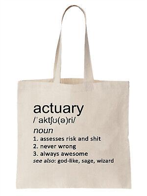 Actuary Definition Funny Tote Bag Shopper Gift Finance Money Risk Assessor Job  Funny Money Folds