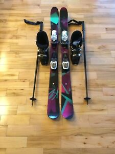 Kids Rossignol Skis, Boots and Poles