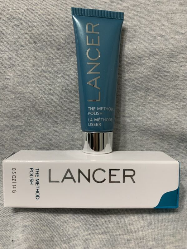 Lancer THE METHOD POLISH .5 oz Travel Size Facial Cleanser Exfoliate Sealed!!