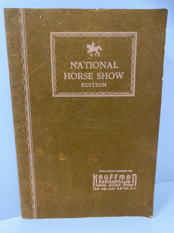 1930s Kauffman Saddlery Catalog Saddles Equestrian New York National Horse Show
