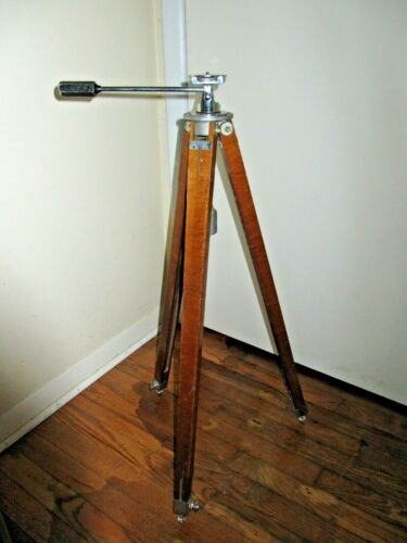 Vintage Panrite Wooden Tripod With Universal Head