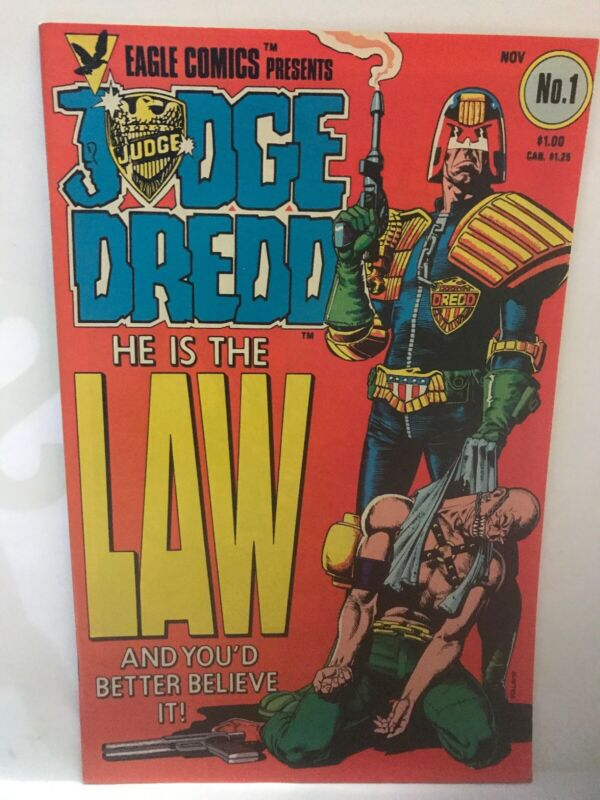 JUDGE DREDD  #1  EAGLE COM 1983! Gorgeous! Key! 1st  Dredd!! KEY N003 UNREAD!!!