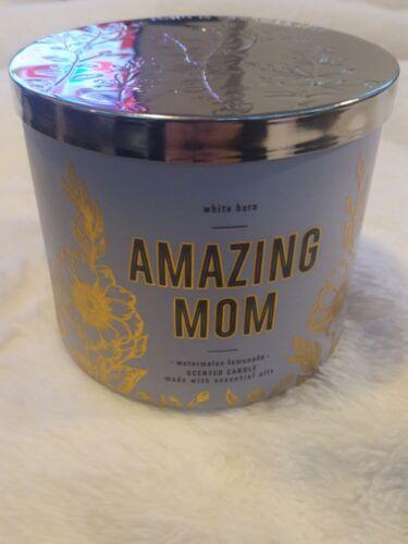 White Barn Bath Body Works Amazing Mom Watermelon Lemonade 3 Wick Candle New - $12.00