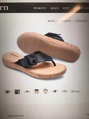 New Born Cork Bottom Sandals Women's Size 8 Black -