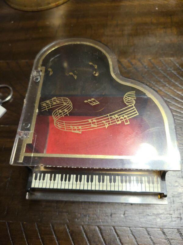 Vintage Piano Acrylic Music Box Plays Theme From Love Story 1978  Hong Kong