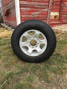 Ford Superduty tires and rims. Set of 4