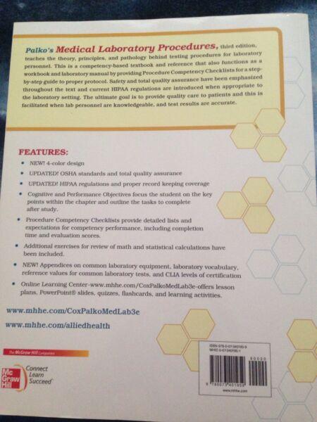 Palko 39 S Medical Laboratory Procedures 3rd Edition