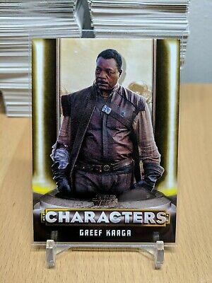 Topps Star Wars The Mandalorian Season 1 Gold Parallel /10 - C-5 Greef Karga