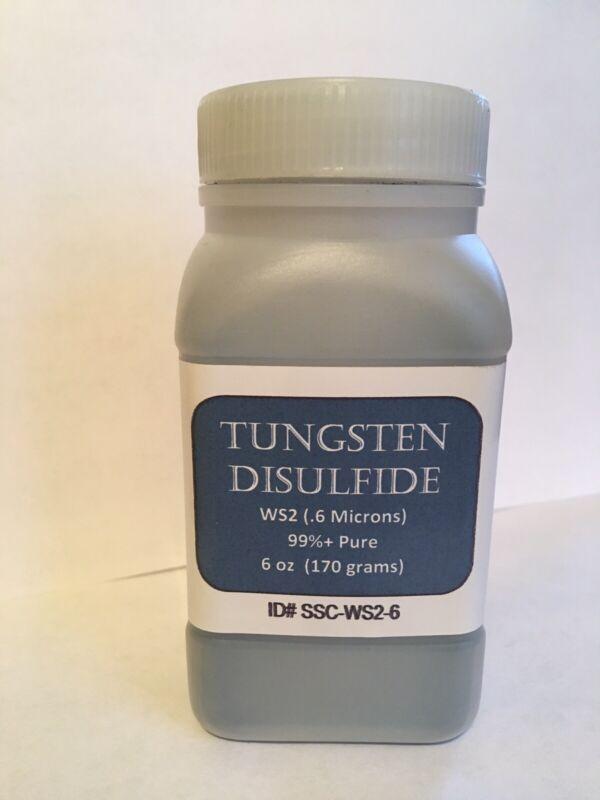 99.9% Pure, .6 micron, Tungsten Disulfide (WS2) dry lubricant powder 6 OZ