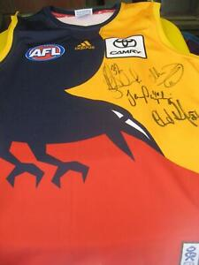 Men's Large, Adelaide Crows, AFL guernsey- Signed