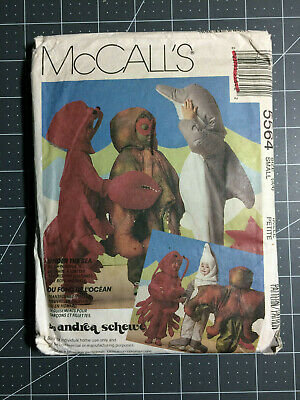 McCall's #5564 ~ Pattern Sea Creature Dolphin Lobster ~ Child 3 & 4 ~ FF / UC](Lobster Costume Pattern)