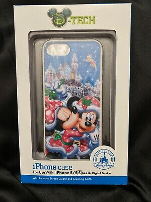 NEW Disney Parks Christmas  DTech Iphone 5 5S Phone Cover Case Minnie Mickey