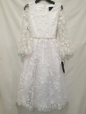 Chantilly Place NWT Girls White Formal Communion Flower Girl Party Dress Girls Communion Shoes