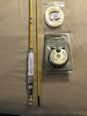 "Eagle Claw Ready To Fish Fly Combo 8/' 0/"" With Accessories MSFLY8B"