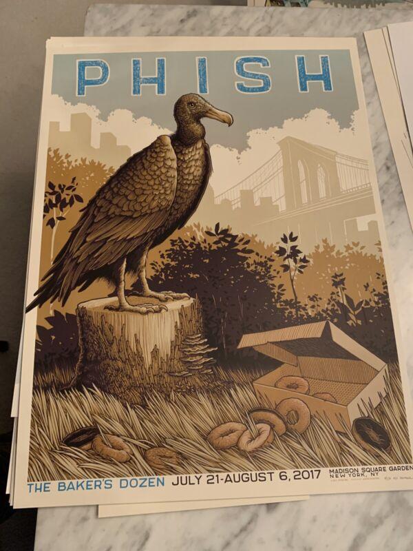 PHISH Bakers Dozen NYC MSG Madison Square Artist Edition Santora Tour Poster OOP