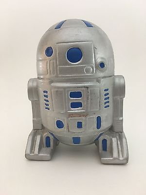 Vintage Hand Made Pottery R2D2 Toy Coin Bank Jar Hand Painted Whimsical