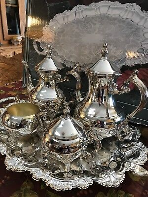 FB Rogers Silver Plate Coffee & Tea Service Set