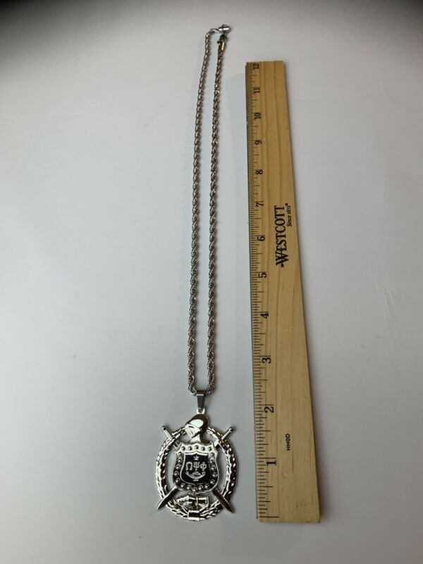 Omega Psi Phi Shield Fraternity Necklace, Chain, Pendant Owt