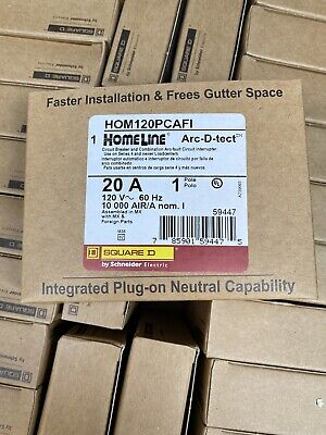 Square D Homeline Hom120pcafi Arc-fault Combo 20a Plug In