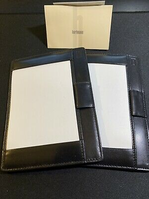 Hartmann Black Leather Jotter Notepad