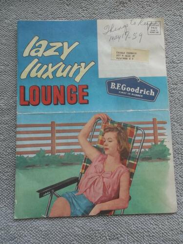 BF GOODRICH LAZY LUXURY LOUNGE MAIL POSTER ADVERTISEMENT 1959 original