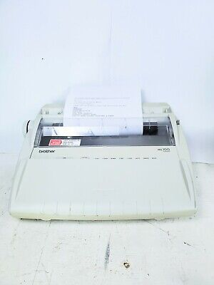 Brother Model Ml100 Typewriter In Good Condition Wnew Ribbon- Yellowed Plastic