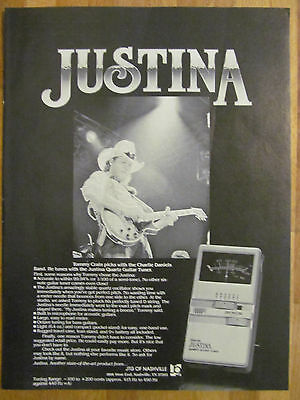 Charlie Daniels Band, Tommy Crain, Justina Quartz Guitar Tuner, Full Page Ad