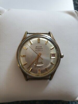Vintage Unusual Avia Daytime 30Jewels Gents Automatic Watch Swiss Made