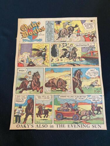 #03 OAKY DOAKS by Ralph B. Fuller Sunday Tab Full Page Strip  August 5, 1951