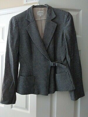 Armani Collezioni Collection Fitted Grey Wool Blazer Jacket Size 42/M