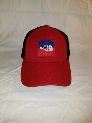 NWT The North Face Throwback Tech Black Strapback Cap Hat UNISEX Running Fitness