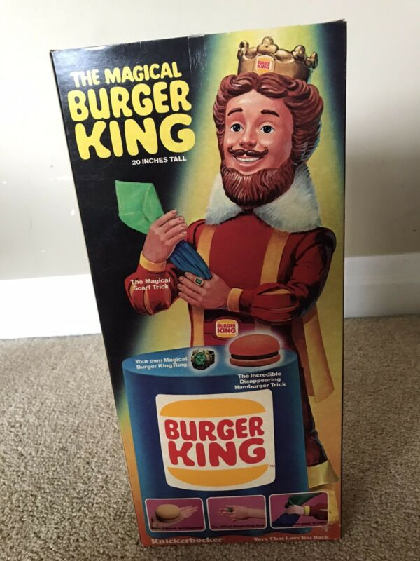 """Vintage 1980 The Magical Burger King Doll 20"""" Knickerbocker 7103 New In Box"""