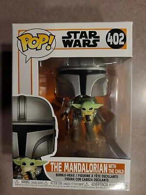 Funko Pop! Star Wars The Mandalorian Flying with The Child 402 Mint