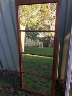 Large standing timber window mirror Wilsonton Toowoomba City Preview