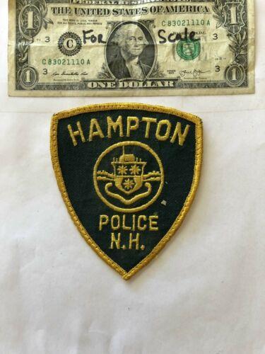 Hampton New Hampshire Police Patch pre-sewn in good shape