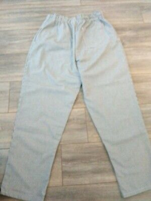 Chef Pants Size Mediumblackwhite Strips