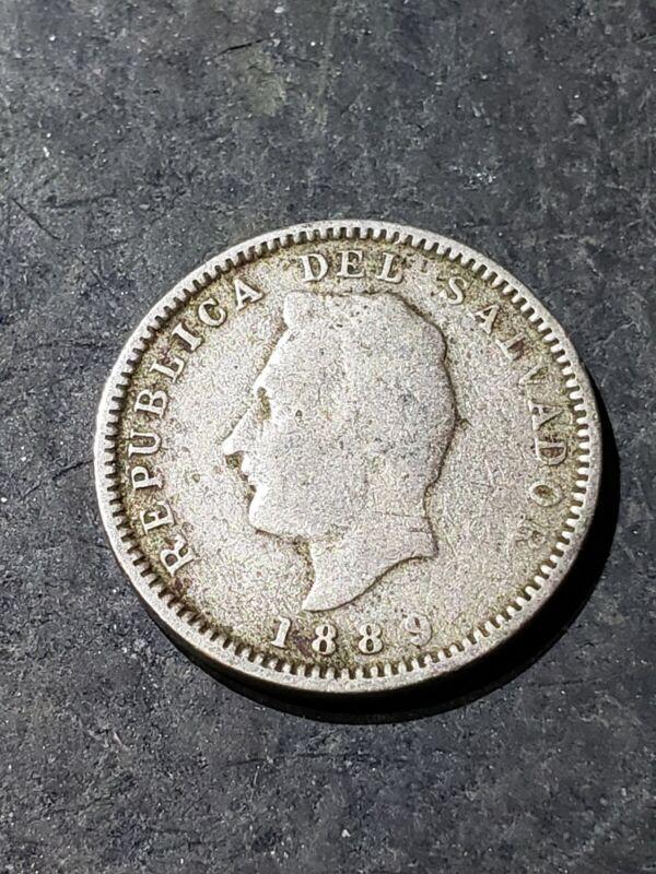 1889 H El Salvador 3 Centavos Coin