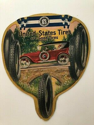 Vintage Colorful United States Tires Advertising Fan
