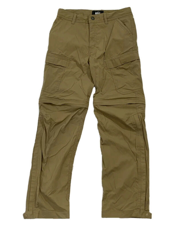 Youth Medium 10-12 REI Zip Off Pants Convertible Shorts Tan Hike Camp Boys