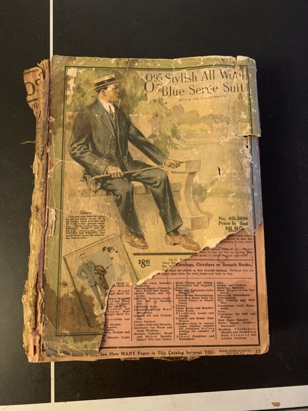 1913 Sears Roebuck Co Catalog Original