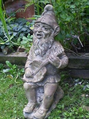 VINTAGE 1930s LARGE GARDEN GNOME FROM ISLE OF SARK, ARCHITECTURAL RECLAMATION