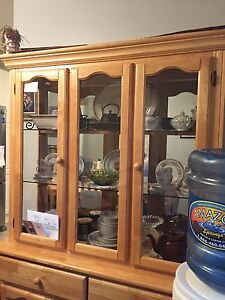 Pine Hutch with light