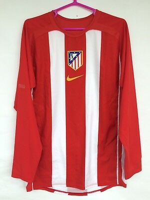 ATLETICO MADRID 2005 2006 NIKE HOME FOOTBALL SOCCER SHIRT PLAYER ISSUE JERSEY image