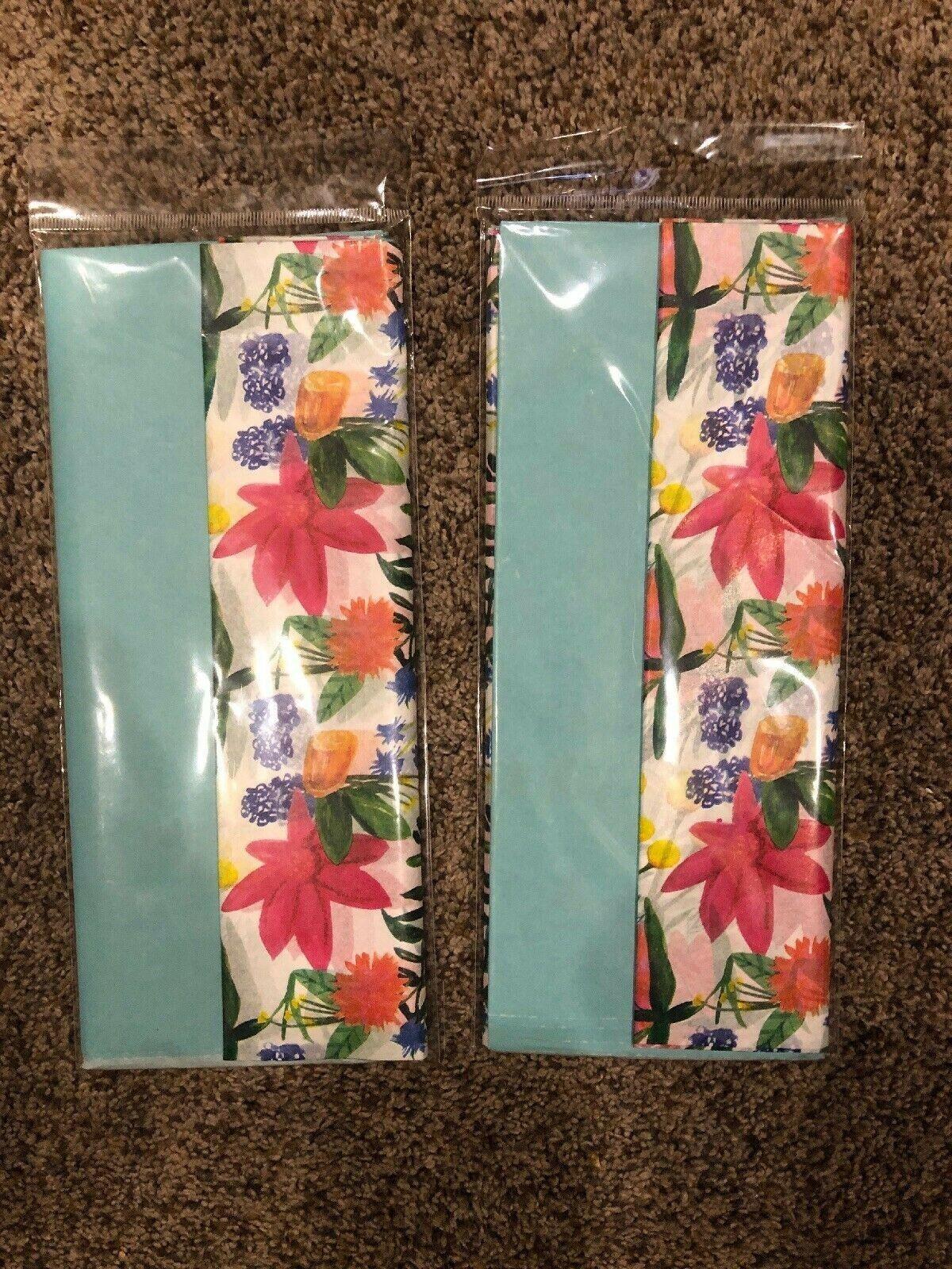Trimblepress Spring Floral Tissue Wrapping Paper SET OF 2 Ne