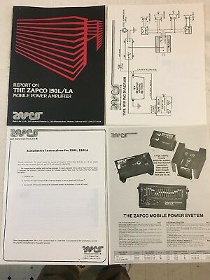Car Amp Wiring Diagram -  ZAPCO - 150 L/LA MOBILE POWER AMP SET-UP AND WIRING DIAGRAM - HIGH QUALITY COPY