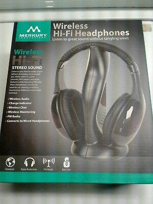 1 HR.! $8.50!   MERKURY BRAND:  WIRELESS HEADPHONE SYSTEM!  -:) 1 Headband System