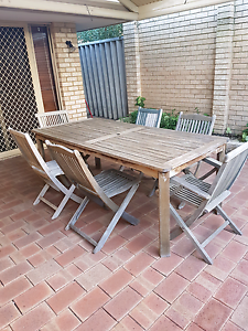 7 piece timber outdoor setting Joondanna Stirling Area Preview