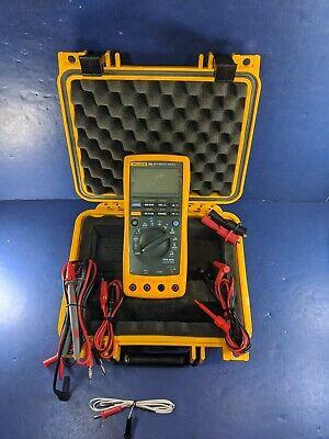 Fluke 189 Trms Multimeter Excellent Hard Case Screen Protector More