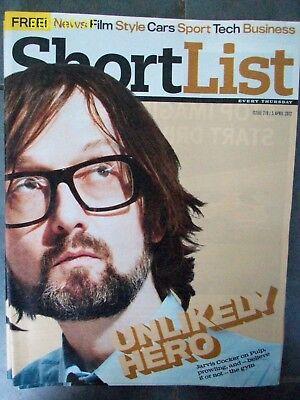 SHORTLIST JARVIS COCKER Issue 219 5 APRIL 2012 Pulp Short List JARV IS
